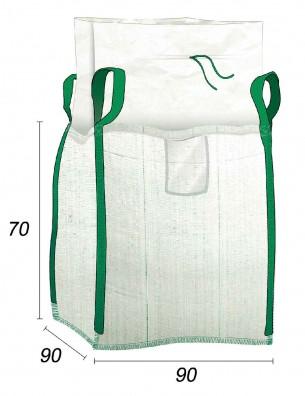 Big Bag 1/2 m3 avec Jupe de fermeture - 90X90X70