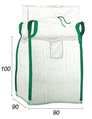 Big Bag 1000 kg vide Spécial pour le BTP - 90X90X100