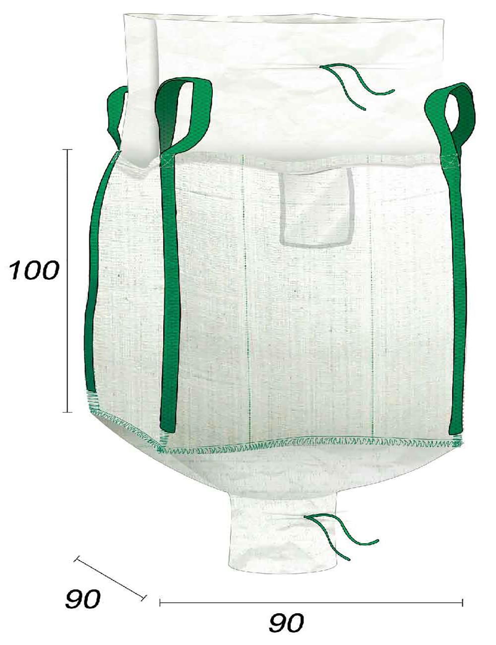 Big Bag 1000 kg vide avec Goulotte de Vidange - 90X90X100