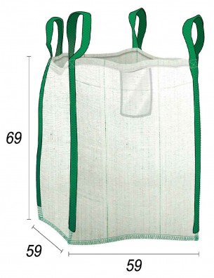 Mini Big Bag Déchets domestiques & Bricolage - 55X55X65