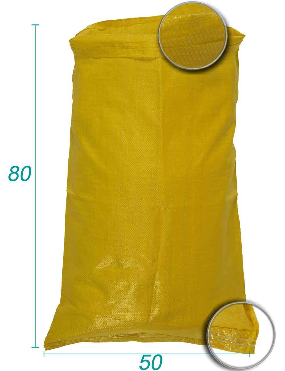 Sac vrac en Polypropylène Jaune 50X80