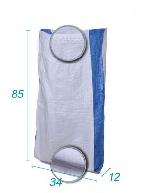 Sac tissé avec Soufllet Bleu Dimension 34X85 X12