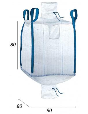Big Bag Résiste à 1 Tonne avec 2 Goulottes