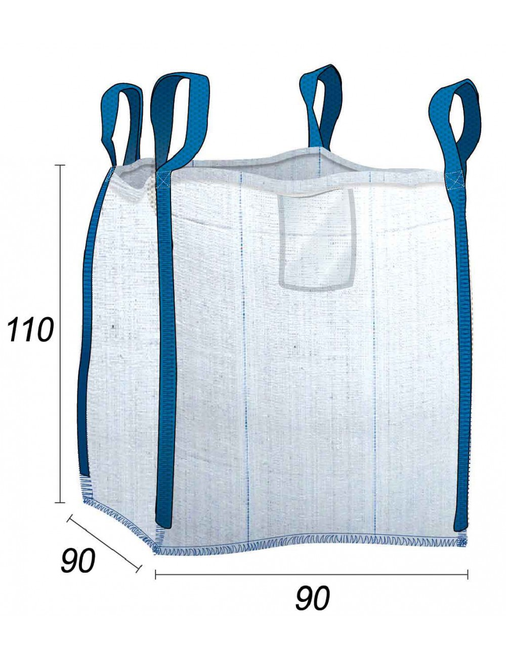 Big Bag Vide Stockage Bois & bûches  1 stère