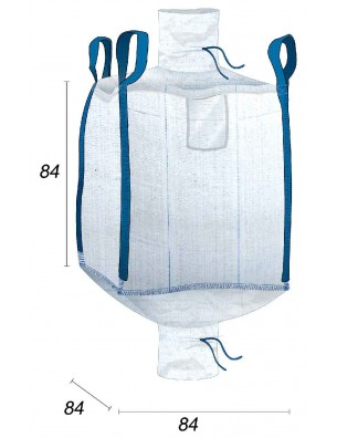 Mini Big Bag 500L goulotte remplissage & Vidange - 80X80X80