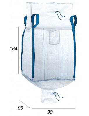 Big Bag avec Jupe & Goulotte de Vidange - 95X95X160