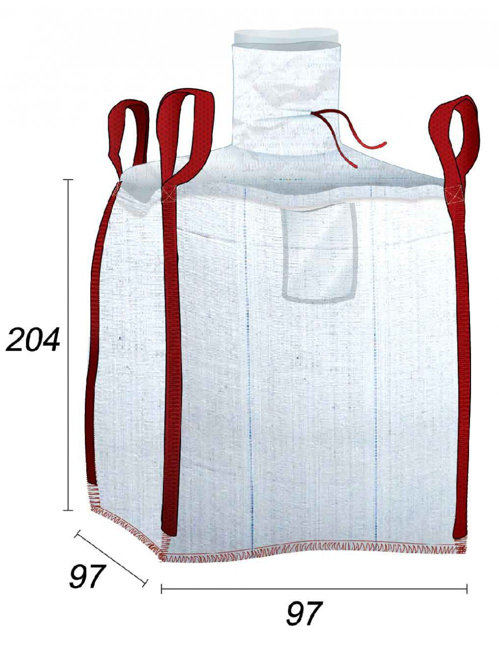 Big Bag doublé avec une sache en PE