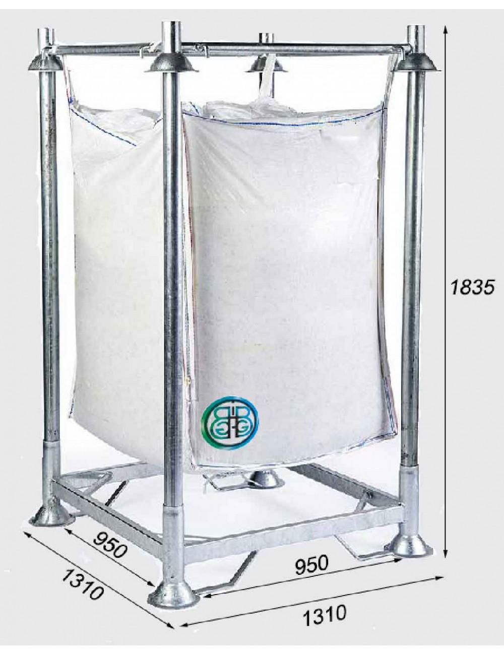 Cadre Support Standard de Big Bag Base Fermée Hauteur 183