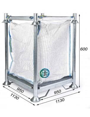 Cadre Support ppour Big Bag Filtration Hauteur 60,0 cm