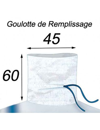Qbag pour l'Agriculture Dimension 93X113X180 1500kg Goulotte de Remplissage 45x60
