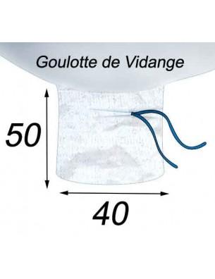 Big Bag Adapté Aspiration Laine de verre Goulotte de Vidange 40x50