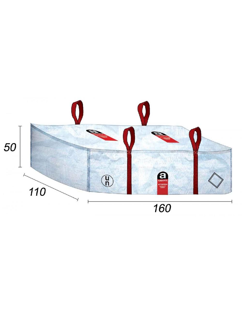 Dépôt bag Plaque Fibro Ciment Amiante