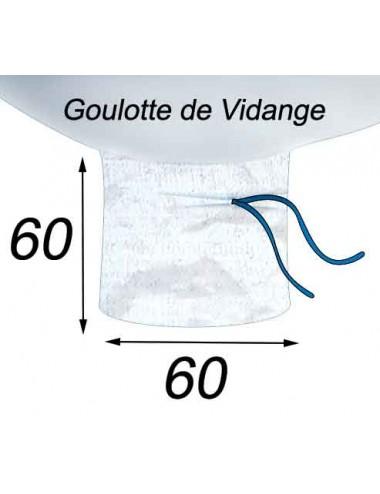 Big Bag Ventilé Ecorces & Plaquettes Bois Goulotte de Vidange 60x60