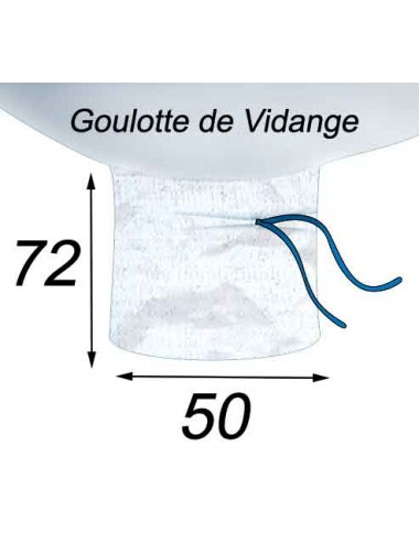 Big Bag tout Produits de l'Agriculture Etanche Goulotte de Vidange 50x72