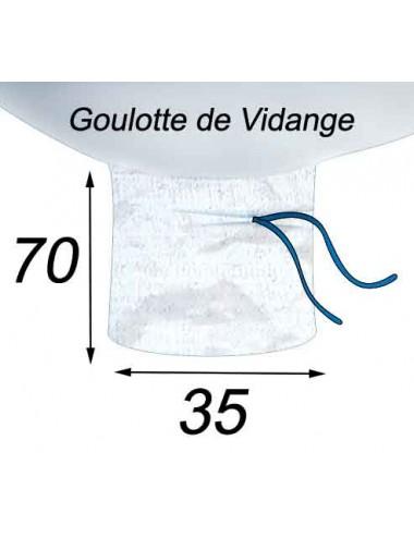 Big Bag Agricole Compost Fumier Engrais Goulotte de Vidange 35x70