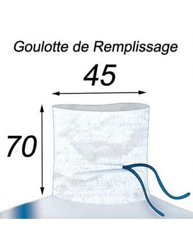 Big Bag Résistant & Réutilisable Goulotte de Remplissage 45x70