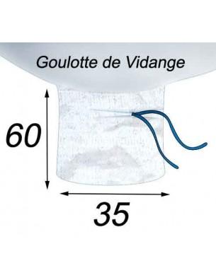 Big Bag Résistant & Réutilisable Goulotte de Vidange 35x60